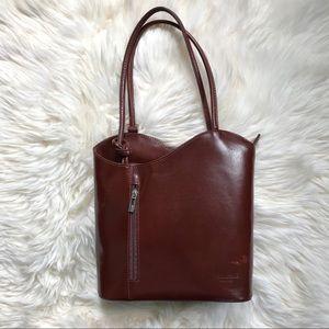 Vera Pelle Patty Convertible Tote Bag/Backpack